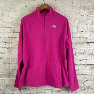Women's The North Face Pink Fleece Sweater XL TNF